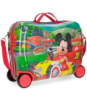 ABS rolling suitcase Mickey roasster racers