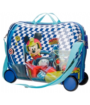 MICKEY Mouse RACE rol zit koffer 4W