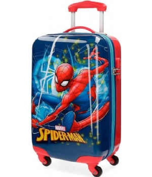 Spiderman ABS trolley 4W spinner
