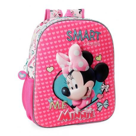 Bol.com | kindertassen.nl  - 1mochila-guarderia-minnie-33x27x11-cm-poliester-happy-helpers-adaptable-a-carro-2232261