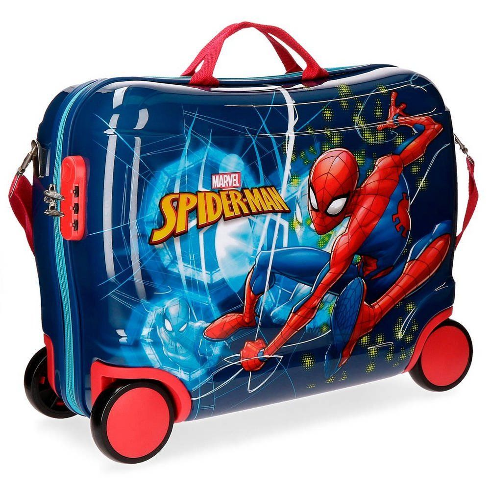 kinderzitkoffer - spiderman-marvel-valigia-trolley-calcabile-43199c1-extra-big-43093-379