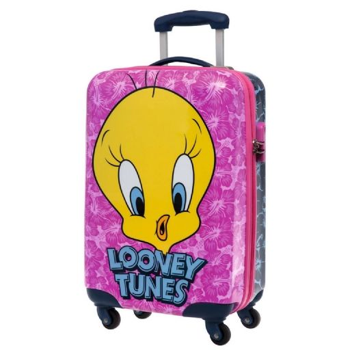 Looney Tunes trolley - tweety_pink_abs_trolley_55_cm